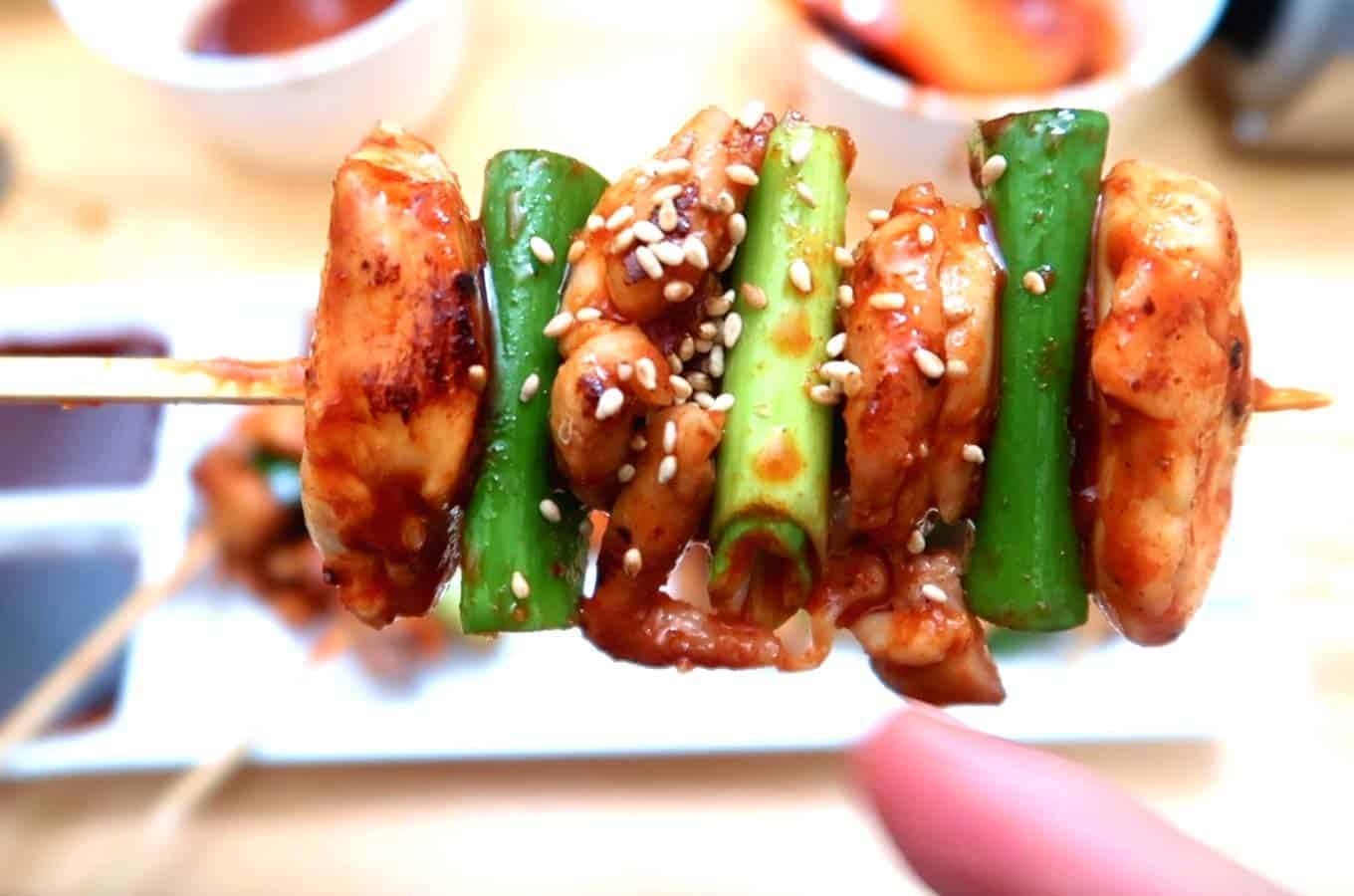 Korean-Chicken-Skewers