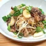 beef brisket mungbean sprouts