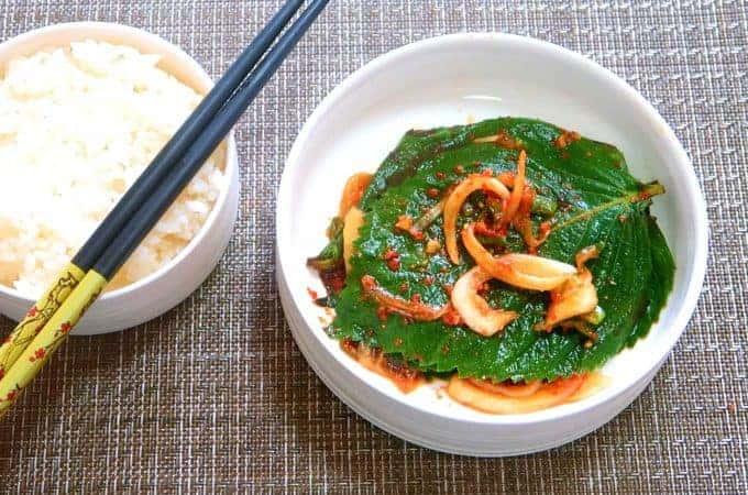 Perilla leaf kimchi