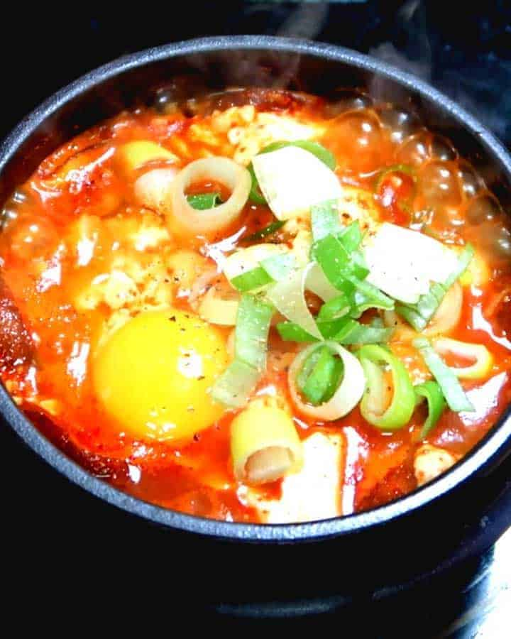Korean Spicy Soft Tofu Stew - Soondubu