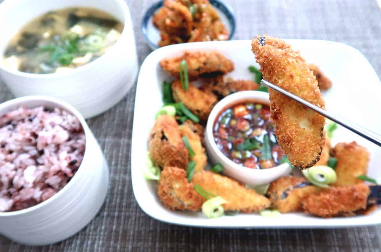Miso Soup - Oiji Pickles - Eggplant Banchan