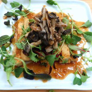 Tofu Mushroom Stack
