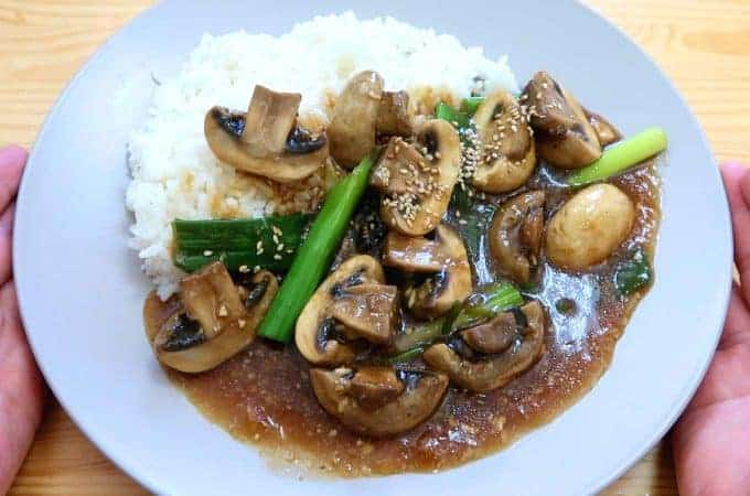 Mushroom Curry Bowl