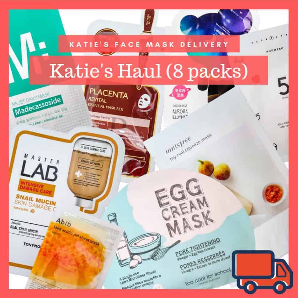 Korean Face Mask Subscription - Katie's Haul