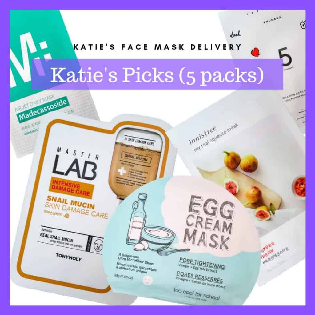 Korean Face Mask Subscription - Katie's Pick