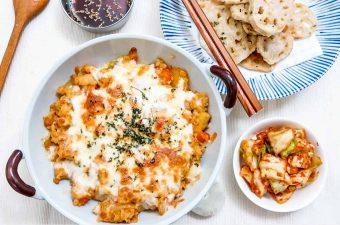 Chicken Rice Gratin & Lotus Root Tempura