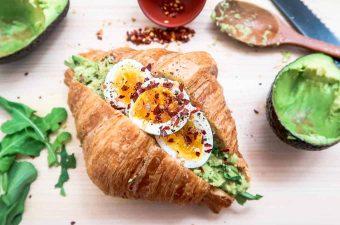 Avocado Croissant & Half-Baked Egg