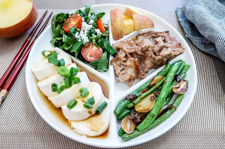 Korean Diet Banchan Plate