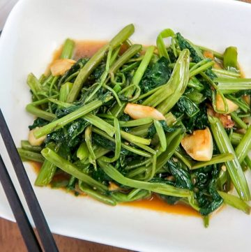 Thai Stir-Fried Morning Glory | Pad Pak Boong | Kangkong