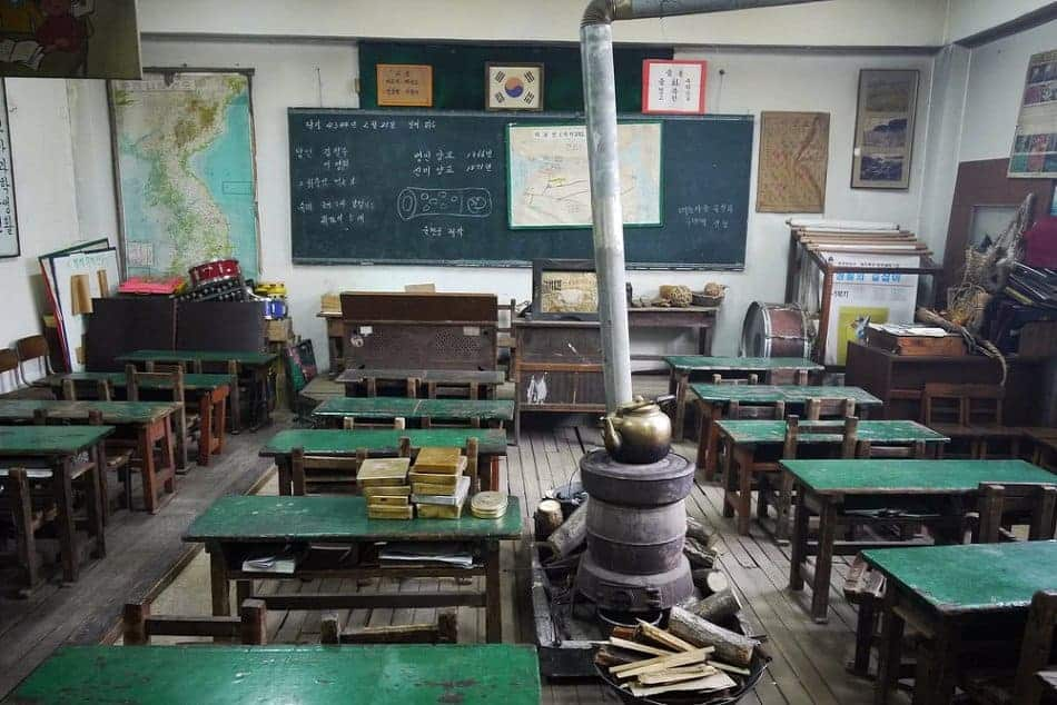 Korean Classroom 1970