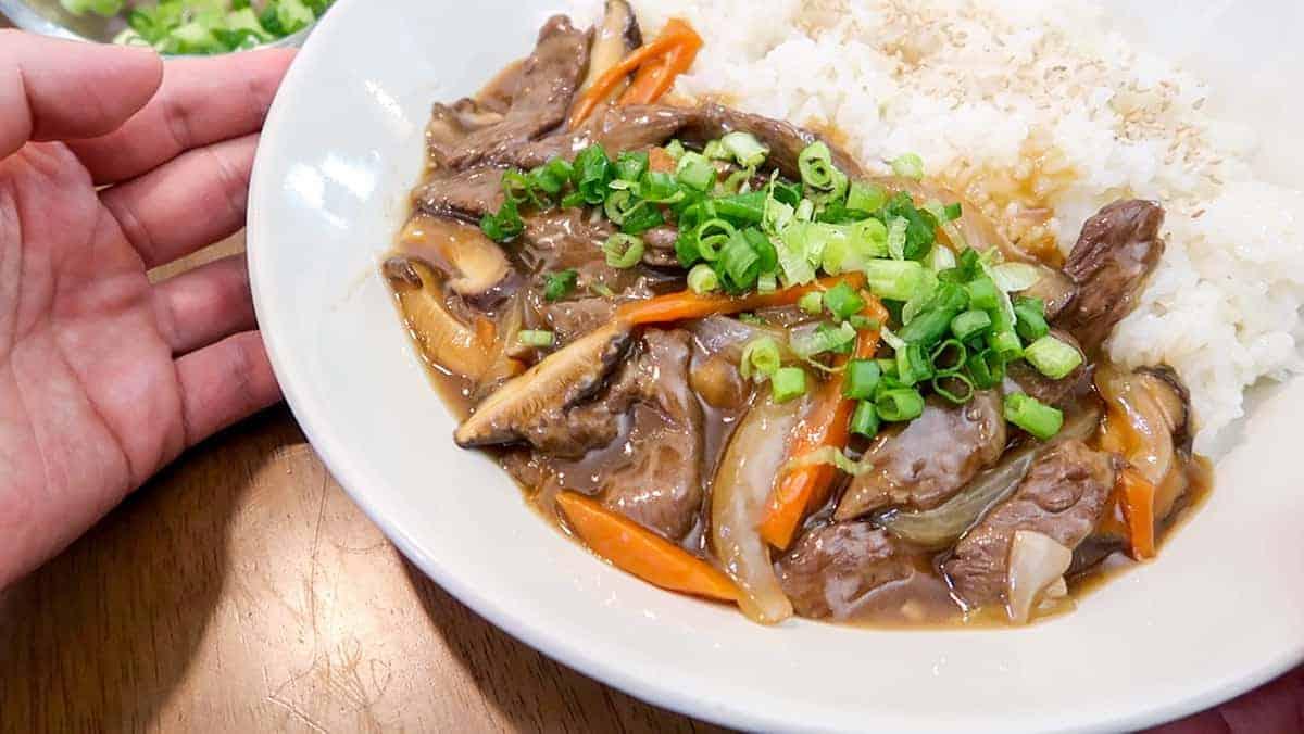 Korean Beef & Mushroom Plate - 2