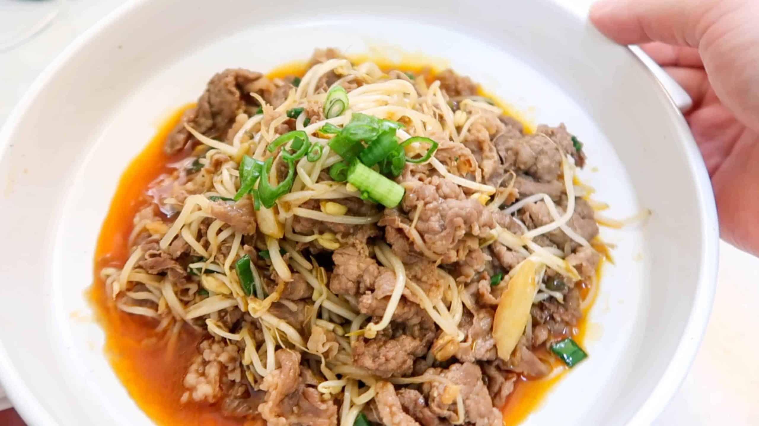 Izakaya Recipes - Beef Brisket & Beansprout Stirfry