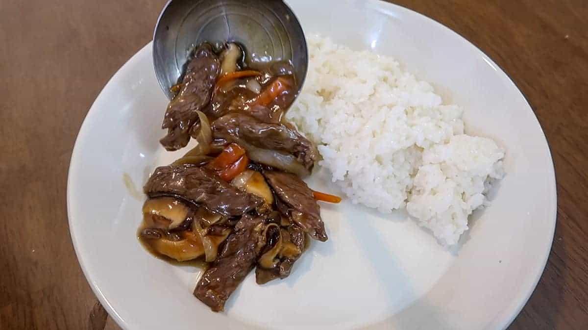 Korean Beef & Mushroom Plate - 4