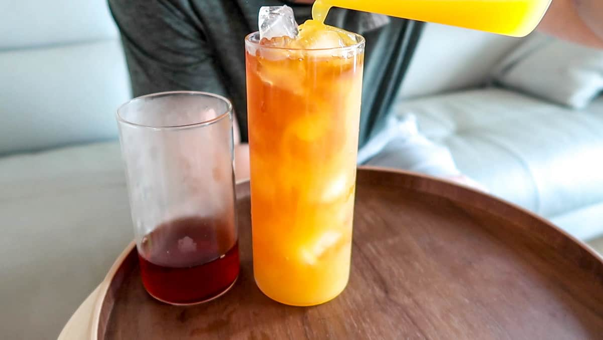 Iced Mango Ceylon Tea Drink