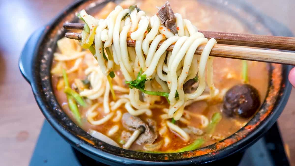 Korean Shabu Shabu Noodles