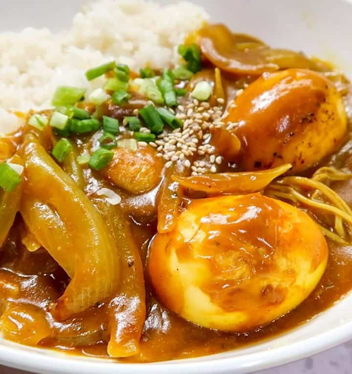 Grilled Egg Korean Curry