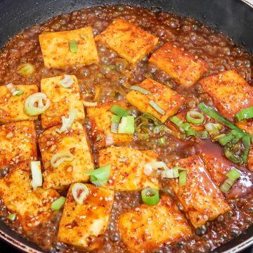 Korean Hansik - Spicy Braised Tofu