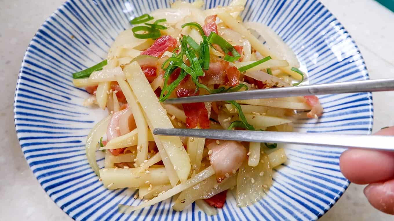 Korean Hansik - Bacon & Potato Stirfry