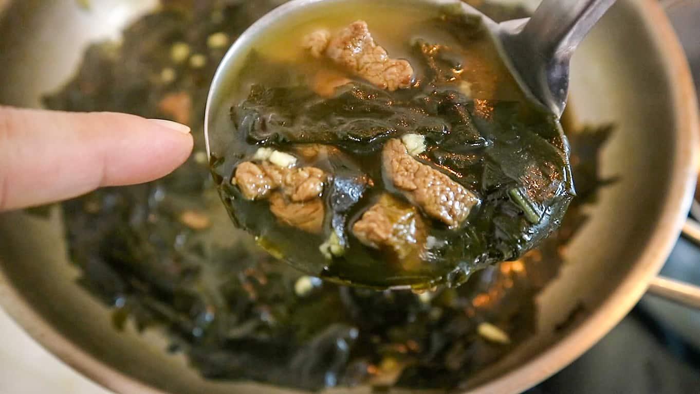 Korean Birthday Meal - Miyeok Guk
