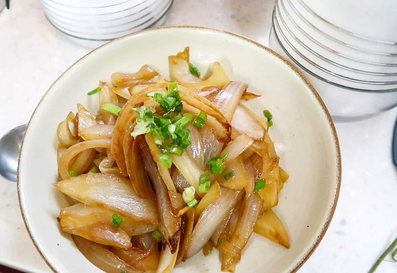 Korean Hansik Meal - Stir-fried Onions