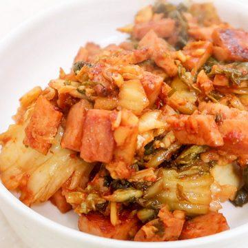 Korean Rice Balls - Kimchi Spam Filling