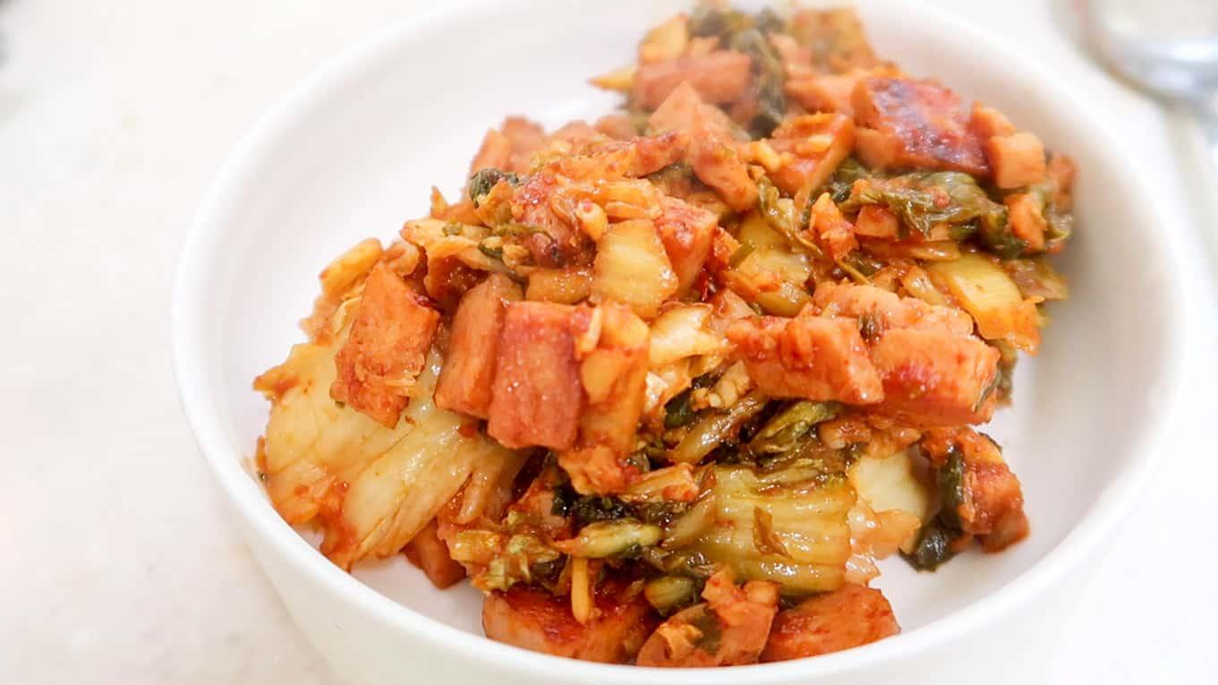 Jumeok Bap - Korean Rice Balls - Kimchi & Spam
