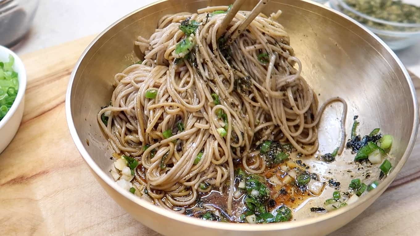 Korean Perilla Oil Noodles