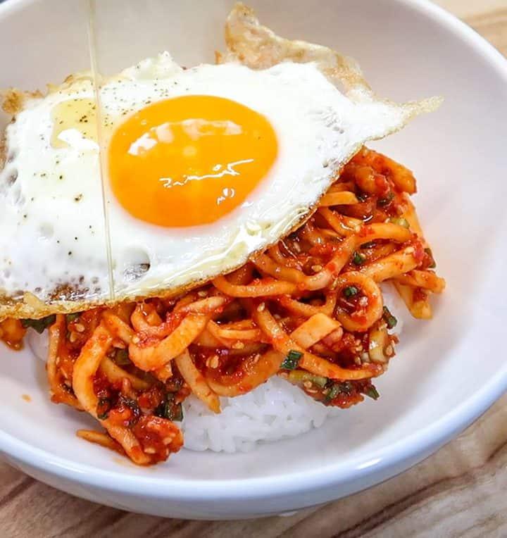 Spicy Radish Bibimbap 7