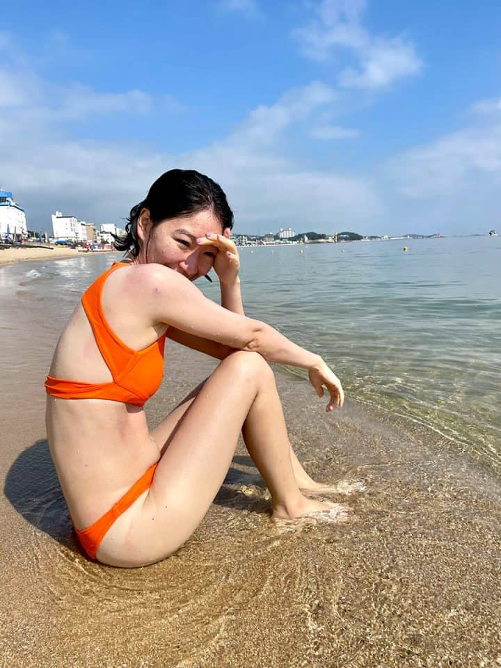 Goseong County - Katie at Bongpo Beach