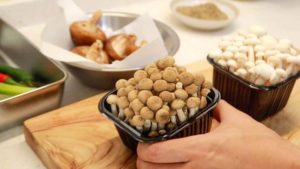 Mushroom Perilla Powder Soup - Beech Mushrooms